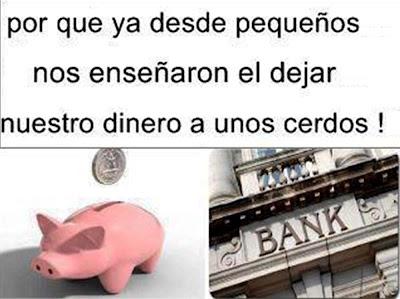 banqueros cerdos