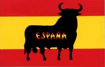 Toro-Bandera-de-España---Pegatina